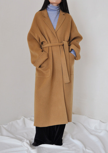 handmade belted coat(4color)
