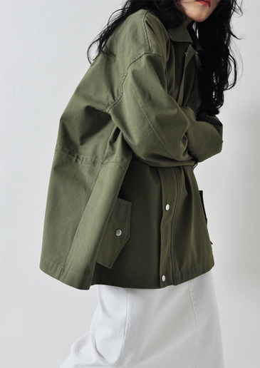 cotton safari jacket(3color)