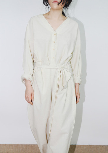 linen jumpsuit(2color)
