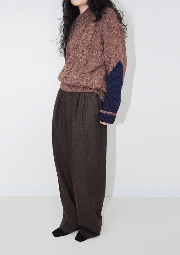 wool pintuck pants(3color)
