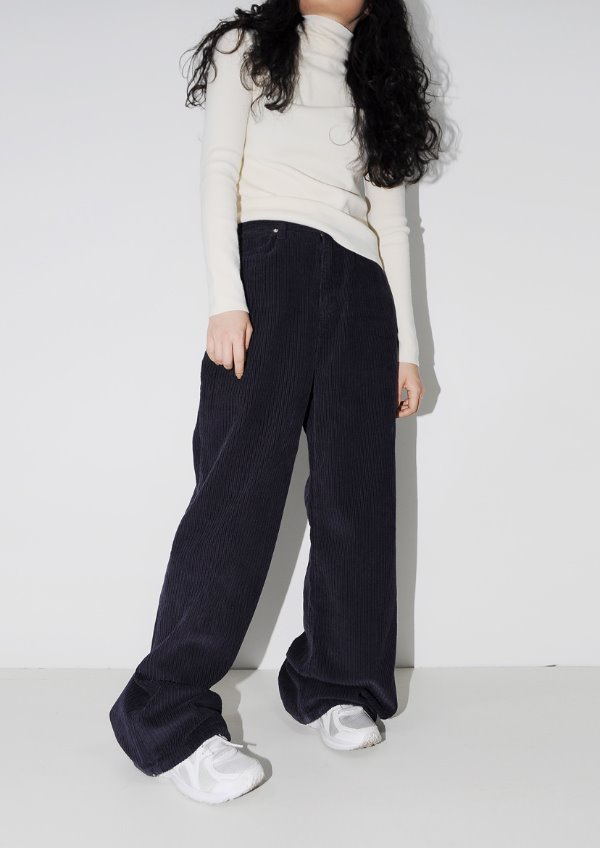 velour corduroy pants(2color)