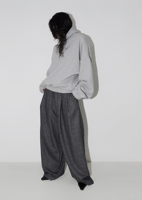 twill pintuck wide pants(2color)