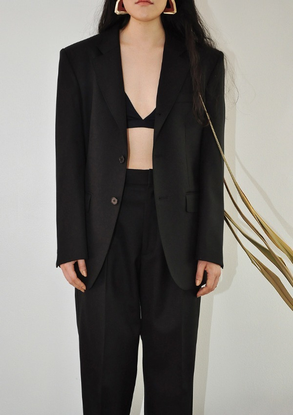 [PRV] signature suit JK / solid black