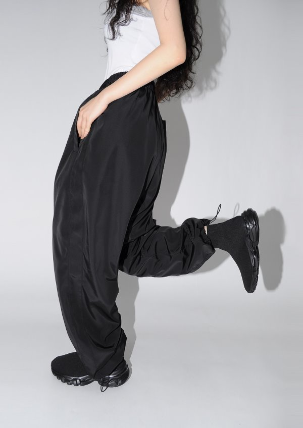 (Unisex)glossy track pants(2color)