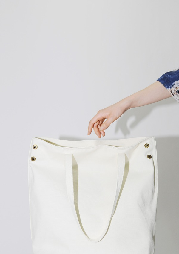 canvas button bag
