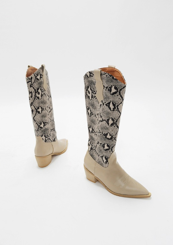 python Wstern long Boots