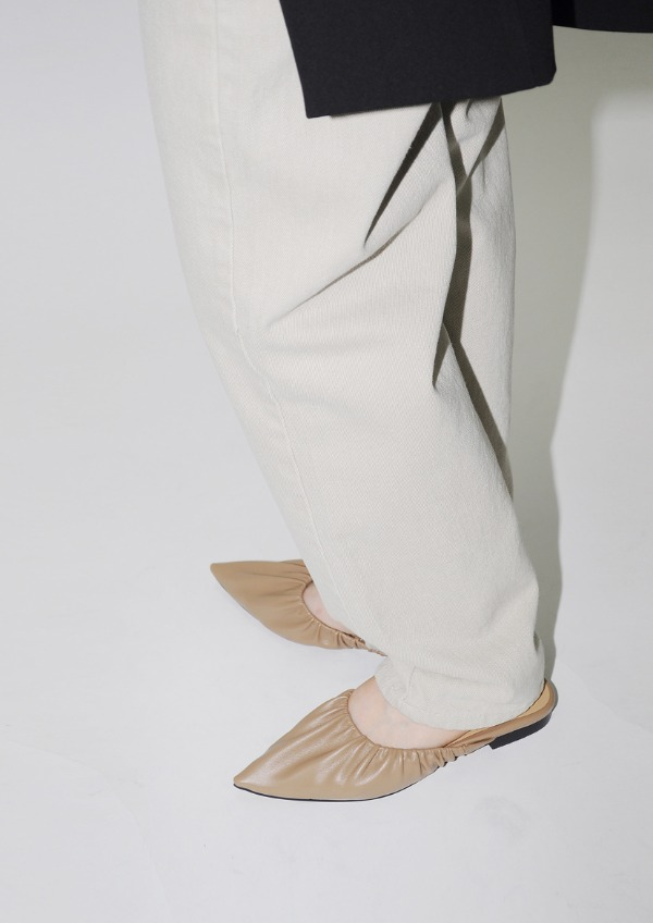 pointed shirring mule(3color)