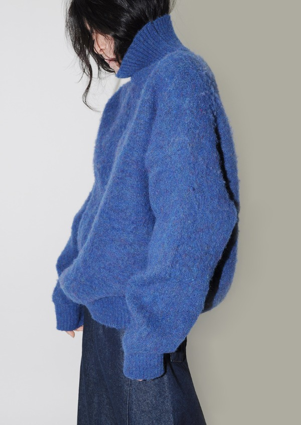 fluffy over knit(2color)