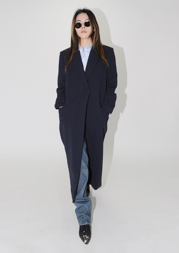 navy long coat