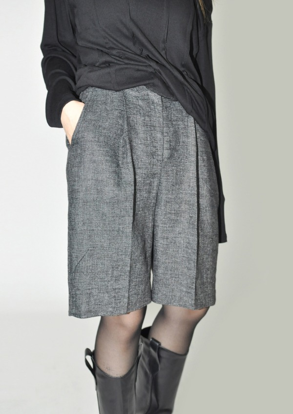 natural linen set up pants  (2color)