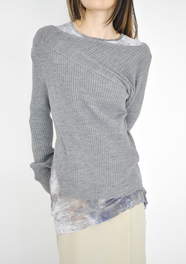 unbal off neck knit(4color)