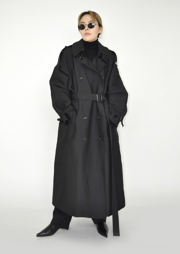 padding trench coat(2color)
