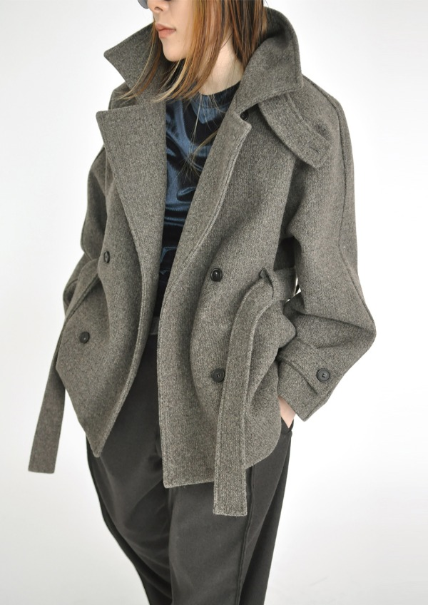 high neck half coat(2color)
