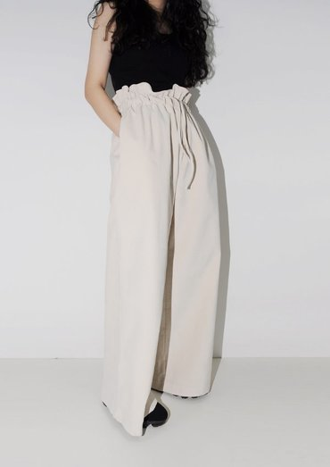 corduroy wide pants(2color)