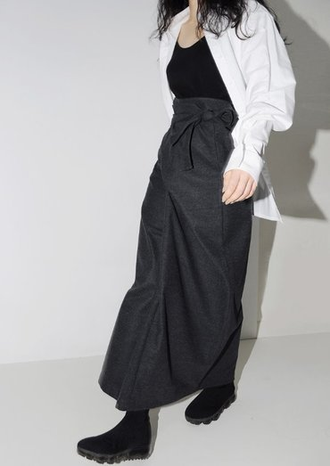 draping long skirt(2color)