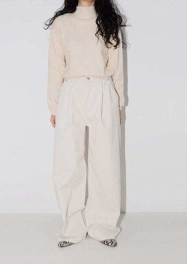 cotton wide pants(2color)