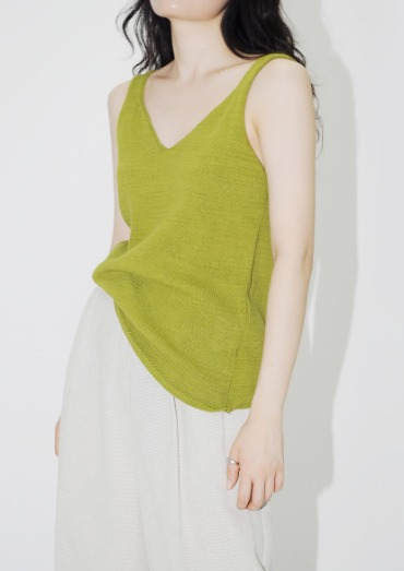 V kint sleeveless(4color)
