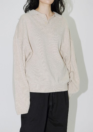 AW wool collar knit(3color)