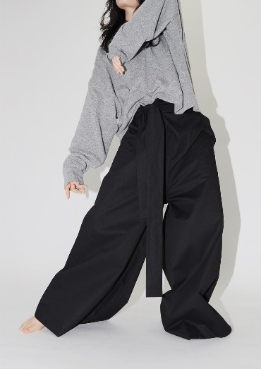 trapeze wrap pants(2color)