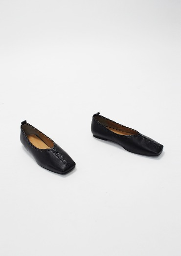 sew square Loafer(2color)