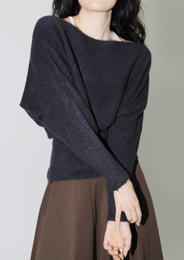 IF neck knit(2color)