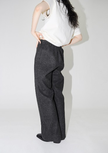 wool band pants(2color)