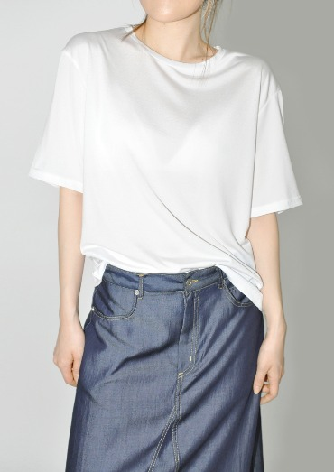 satin short sleeve T(2color)