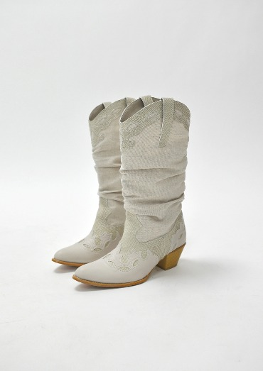 linen western boots(2color)