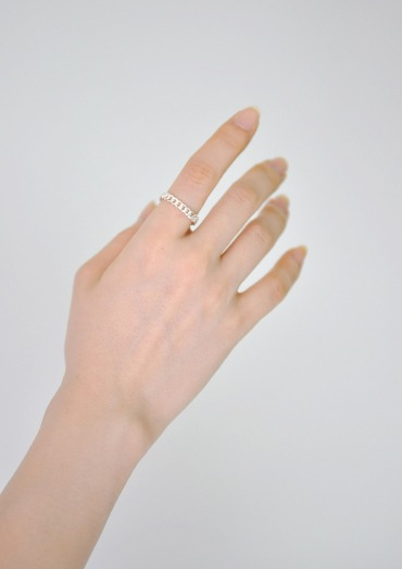 (silver925)chain simple ring
