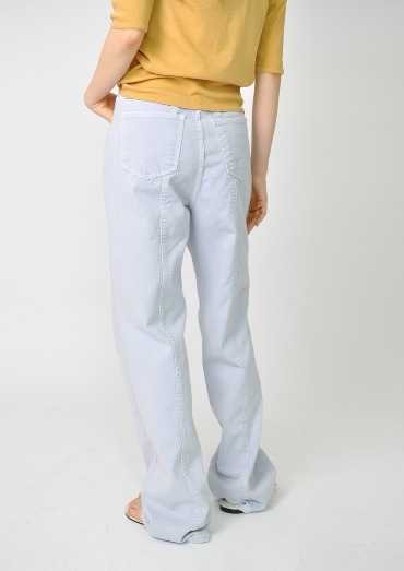back stitch cotton pants