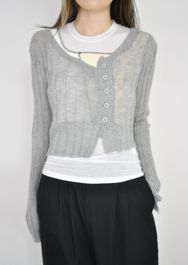 crop cardigan(3color)