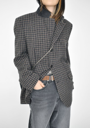 wool check jacket(2color)