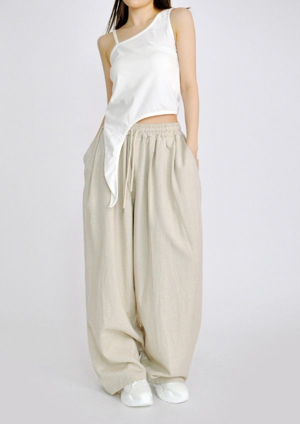 linen double wide pants(2color)