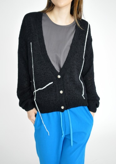 tape cardigan(2color)